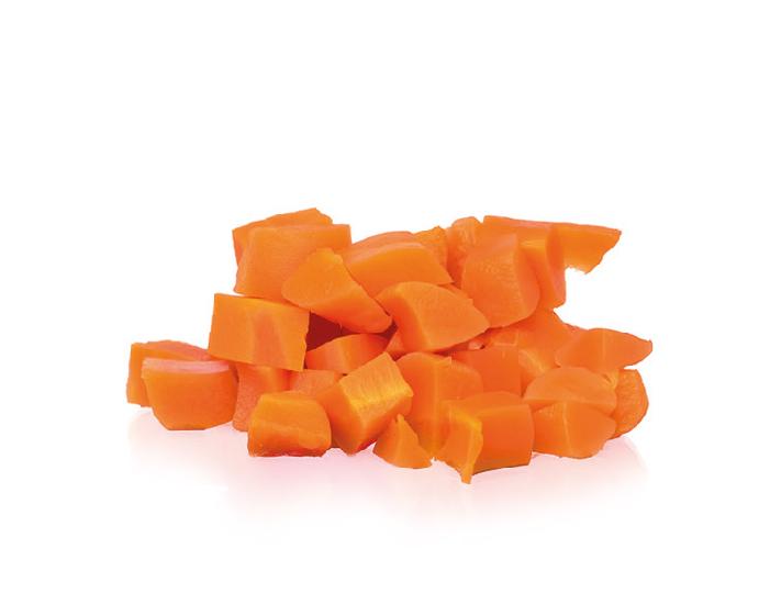 zanahoria en dados